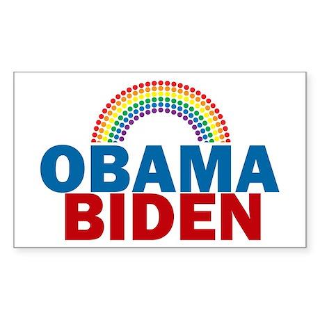 Obama Rainbow Sticker (Rectangle)