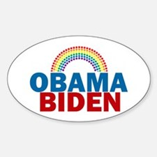 Obama Rainbow Sticker (Oval)