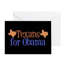 Texans for Obama Greeting Card