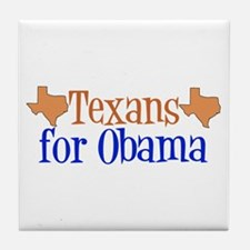 Texans for Obama Tile Coaster