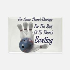 Bowling Therapy Rectangle Magnet