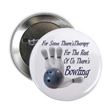 """Bowling Therapy 2.25"""" Button (10 pack)"""