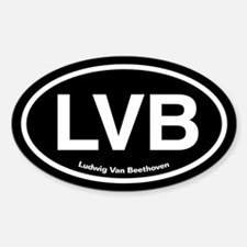 LVB Ludwig van Beethoven Sticker (Oval)