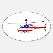 Kiowa Patriot Sticker (Oval)