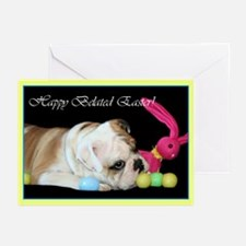 Happy Belated Easter Bulldog Greeting Cards (Pk of