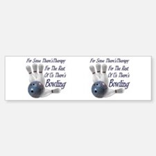 Bowling Therapy Bumper Bumper Sticker