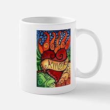 Amor Flaming Milagro Heart Mug