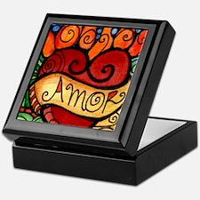 Amor Flaming Milagro Heart Keepsake Box