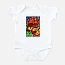 Amor Flaming Milagro Heart Infant Bodysuit
