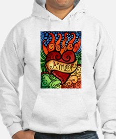 Amor Flaming Milagro Heart Jumper Hoody