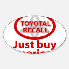 Toyotal Recall Decal