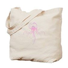 Cute Swimming girl pink Tote Bag
