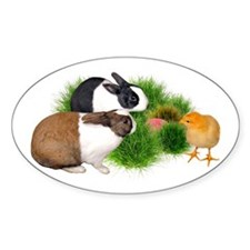 Dutch Bunnies with Chick Decal
