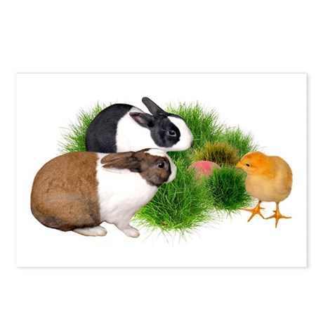 Dutch Bunnies with Chick Postcards (Package of 8)