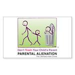 Don't Trash Your Child's Parent STICKER