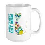 Cat mom Large Mugs (15 oz)