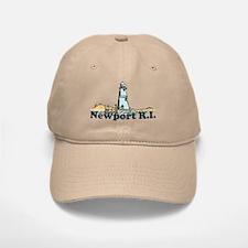 Newport Beach RI - Lighthouse Design Baseball Baseball Cap