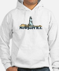 Newport Beach RI - Lighthouse Design Hoodie