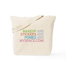 Makeup Stickers Ponies Tote Bag