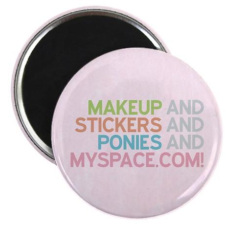 Makeup Stickers Ponies Magnet