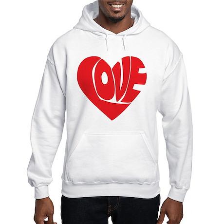 Love (red) Hooded Sweatshirt