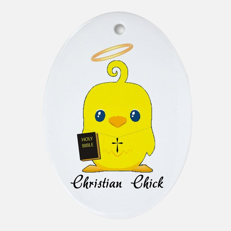 Christian chick Ornament (Oval)