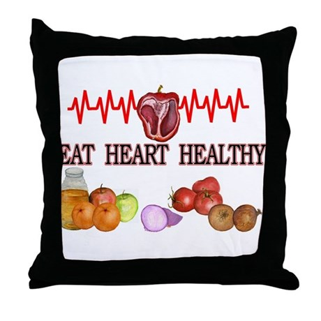 eat healthy Throw Pillow