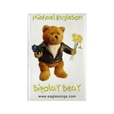 Rectangle Bipolar Bear Magnet