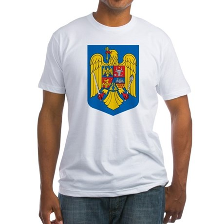 Romania Coat of Arms (Front) Fitted T-Shirt