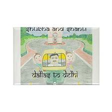 Shubha and Shanti Rectangle Magnet