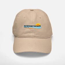 Newport Beach RI - Beach Design Baseball Baseball Cap