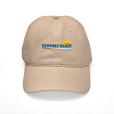 Newport Beach RI - Beach Design Baseball Cap