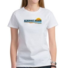 Newport Beach RI - Beach Design Tee