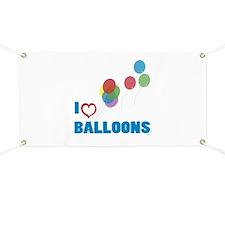 I Love Balloons Banner
