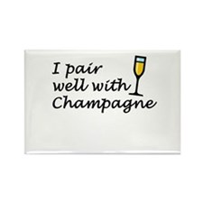 I Pair Well With Champagne Rectangle Magnet