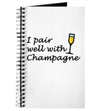 I Pair Well With Champagne Journal