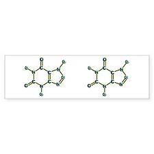 Caffeine Molecule Bumper Sticker
