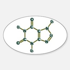 Caffeine Molecule Sticker (Oval)