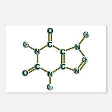 Caffeine Molecule Postcards (Package of 8)