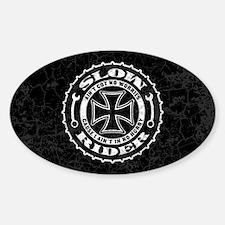 Slow Rider Sticker (Oval)