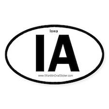 IA State ID Oval Decal