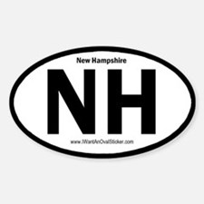 NH State ID Oval Decal