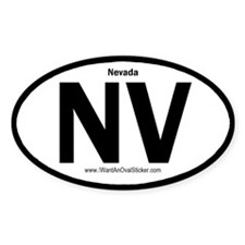 NV State ID Oval Decal