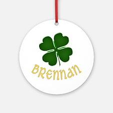 Irish Brennan Ornament (Round)