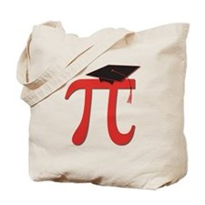 Red Pi Grad Tote Bag