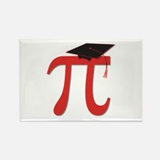 Red Pi Grad Rectangle Magnet
