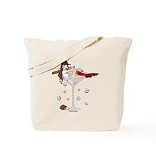 Boston Girl Martini Tote Bag