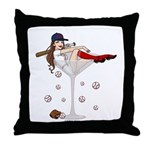 Boston Girl Martini Throw Pillow