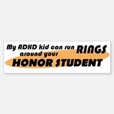 ADHD Kid Runs Rings Bumper Bumper Sticker