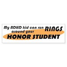 ADHD Kid Runs Rings Car Sticker